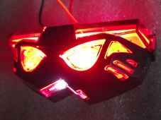 LED rear light transformer clear lens black case stop and tail light